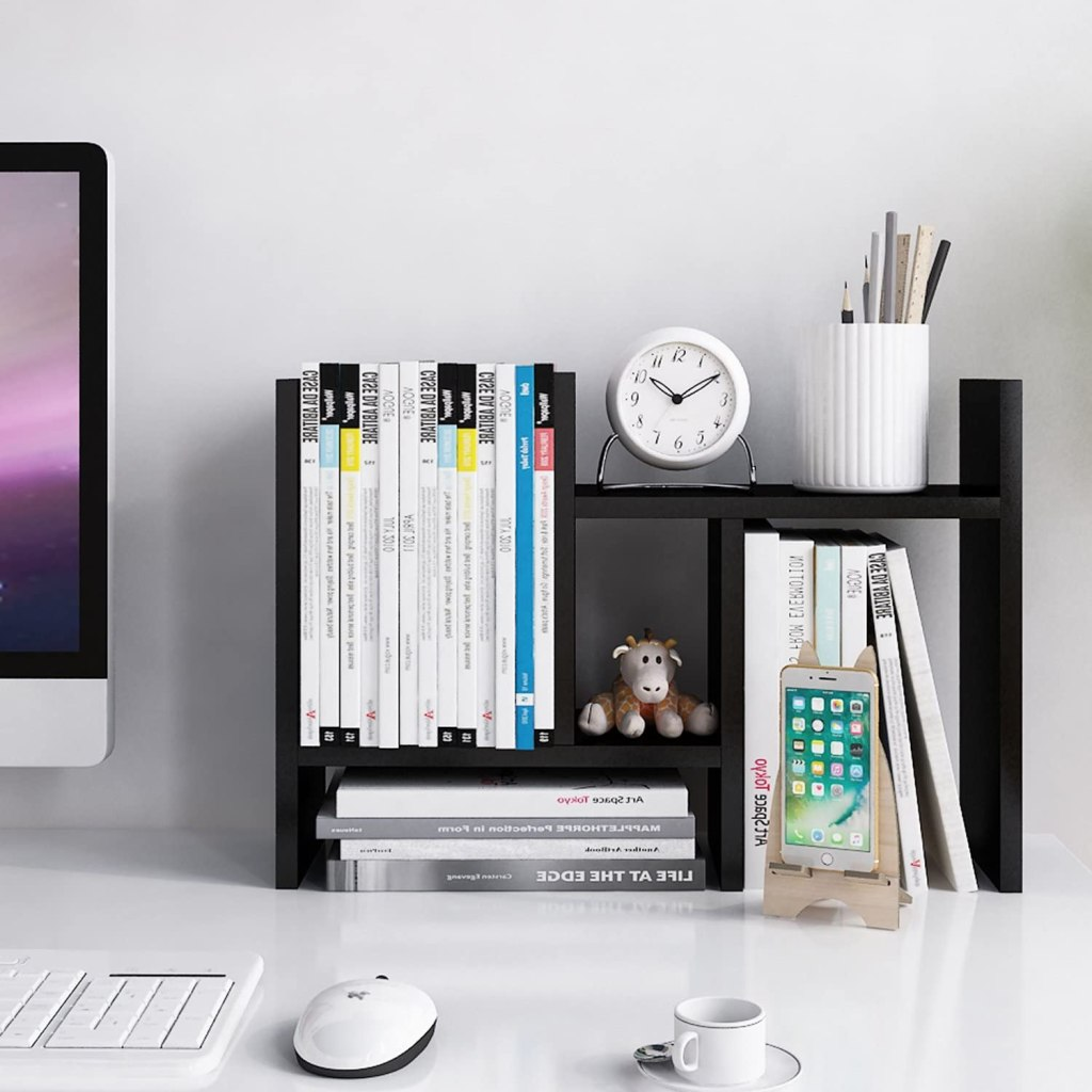 desk shelves - best home office decor