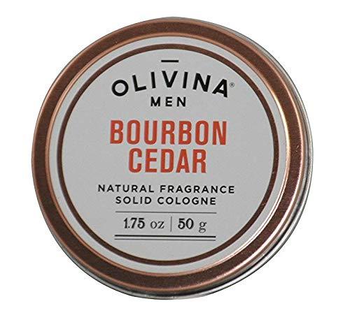 Olivina men solid cologne in bourbon cedar