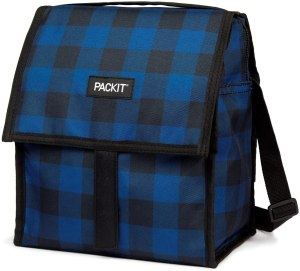 PackIt Freezable Deluxe Large Lunch Bag with Shoulder Strap