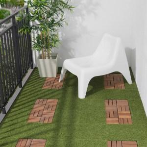 runnen artificial grass deck tiles, wood deck tiles
