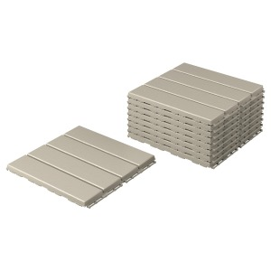 RUNNEN deck tiles, wood deck tiles