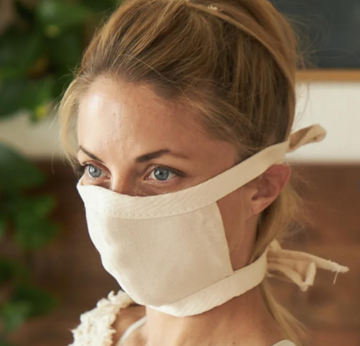Avocado Organic Cotton Face Mask