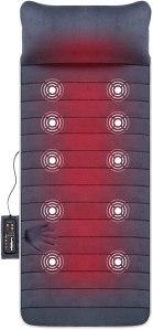 electric back massager snailax memory foam mat