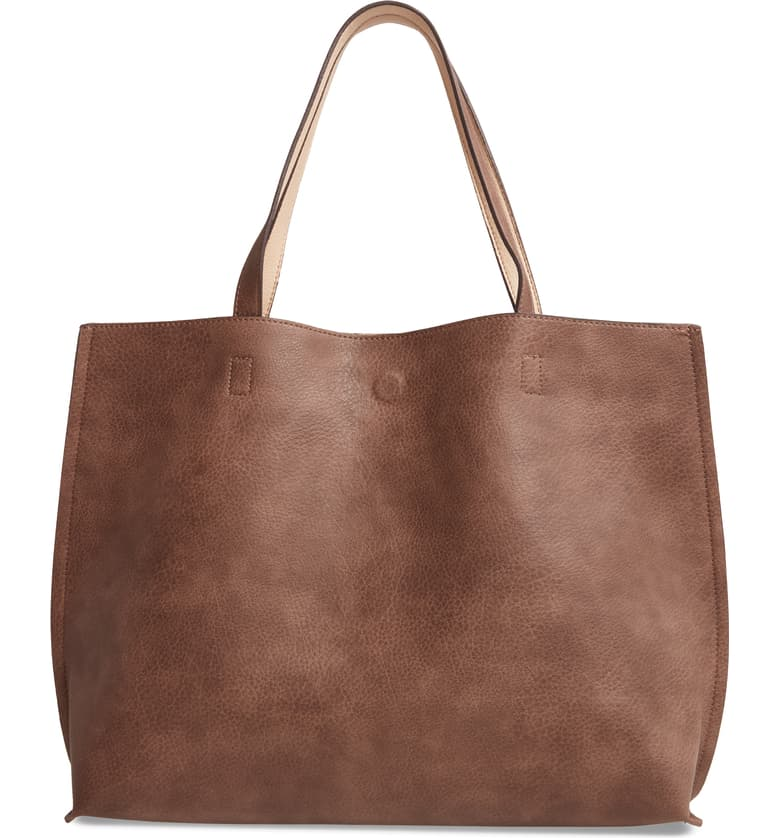 best gifts for mom - Street Level Reversible Faux Leather Tote & Wristlet
