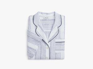 Striped Oversized Pajama Shirt
