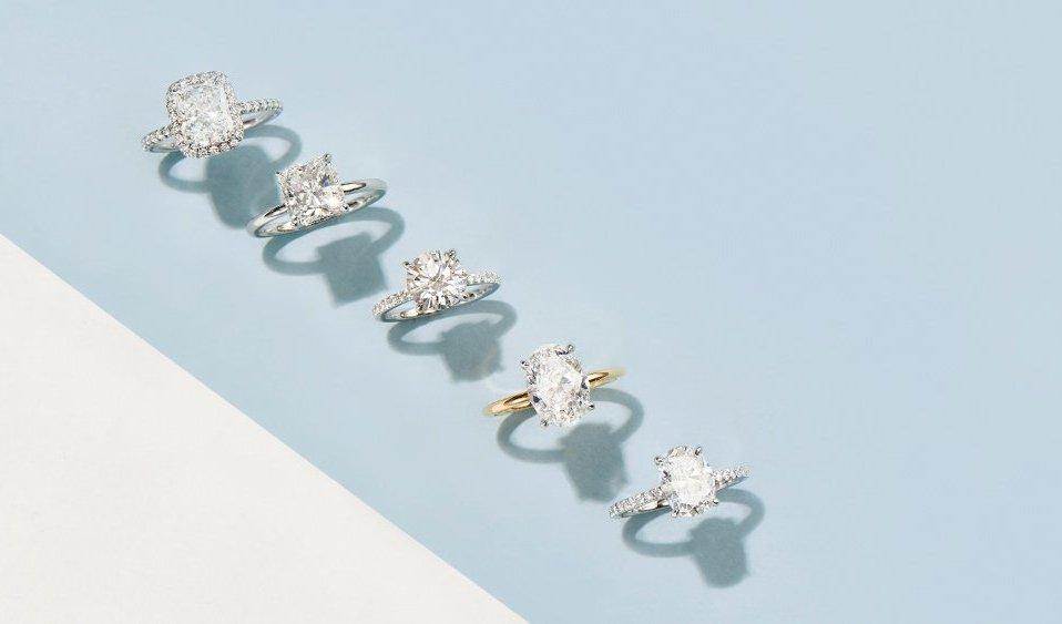 The Clear Cut custom diamond rings