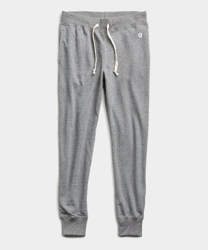 Todd Snyder x Champion lightweight slim jogger sweatpant in salt and pepper