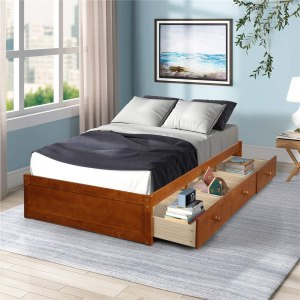 Chino Twin Bed with Storage