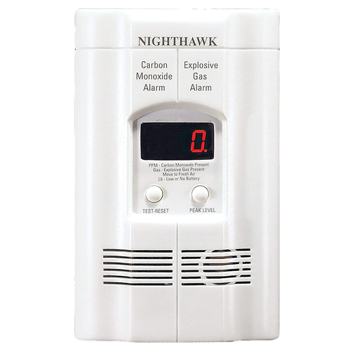 Kidde AC Plug-in Carbon Monoxide and Explosive Gas Detector Alarm