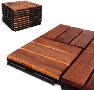 acacia wood deck tiles