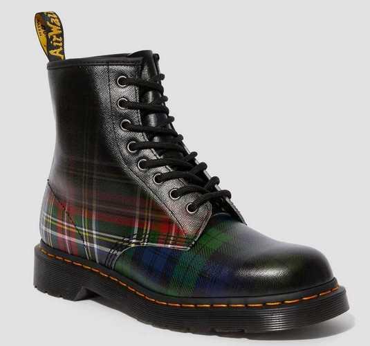 Doc Martens Plaid Combat boots for men