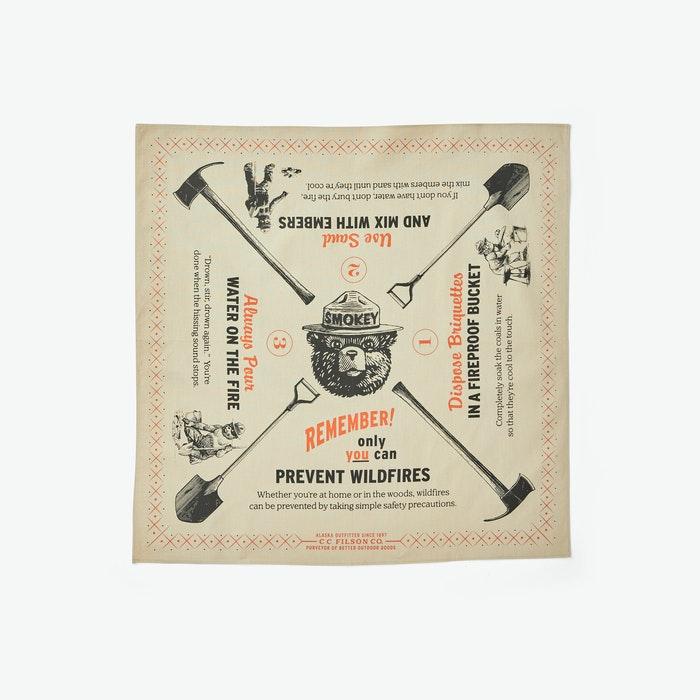 Best bandana for men: Filson Smokey Bear Bandana