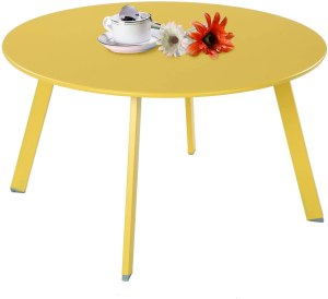 Grand Patio Round Steel Patio Coffee Table