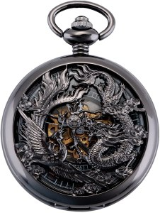 lucky dragon metal pocket watch, best pocket watch, pocket watches