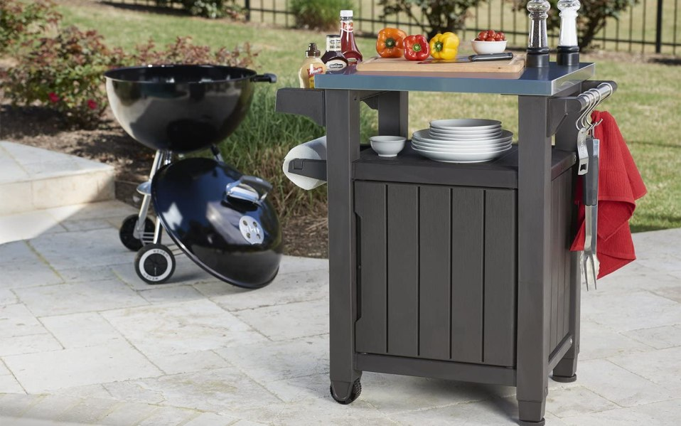 Image result for Barbecue grill table