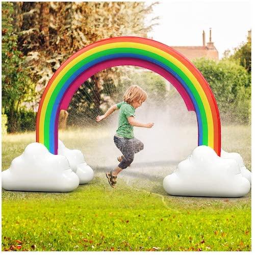 ENJSD Large Inflatable Rainbow Arch Sprinkler