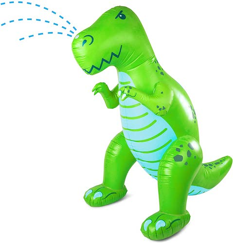 BigMouth Inc. Ginormous Inflatable Green Dinosaur Yard Summer Sprinkler