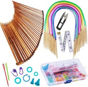 best hobbies for men - knitting kit needles