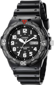 Waterproof watch black casio