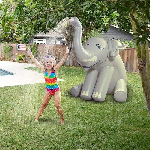 GoFloats Giant Inflatable Elephant Sprinkler
