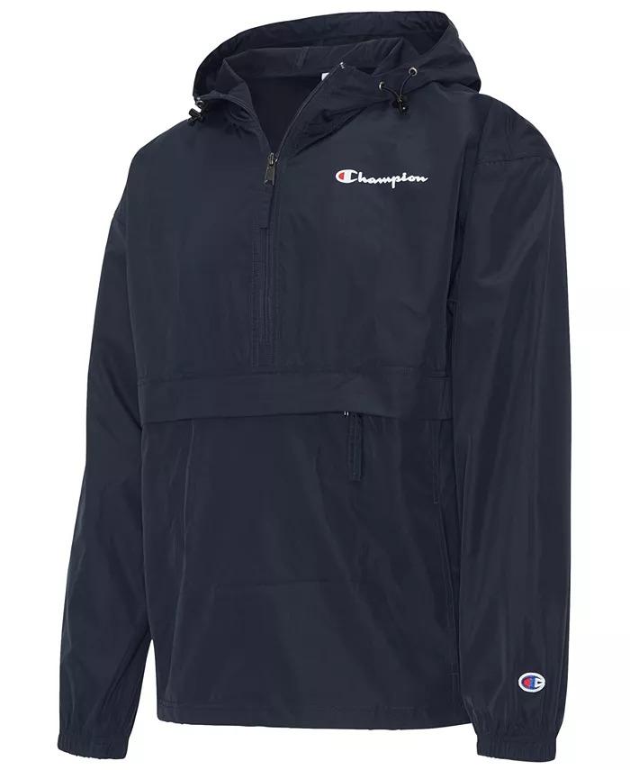 Men's Packable Half-Zip Hooded Jacket by Champion