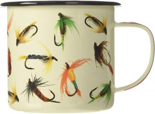 Camping Mug with fish hook pattern