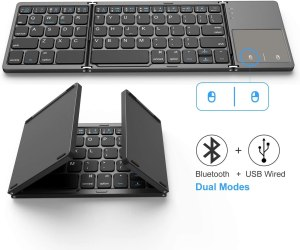 Jelly Comb Dual Mode Bluetooth & USB Wired Rechargable Portable Mini BT Wireless Keyboard