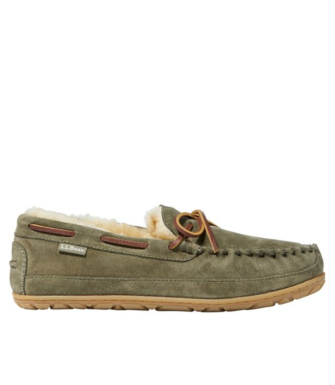 LL Bean Men's Wicked Good Moccasin Slippers