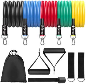 lets funny resistance bands, how to workout at home