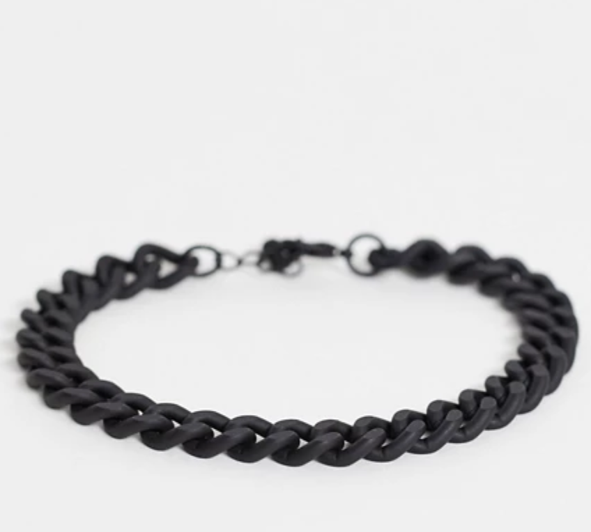 black chain bracelet for men