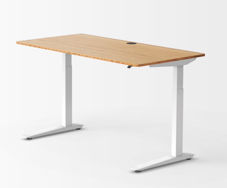 jarvis standing desk with bamboo