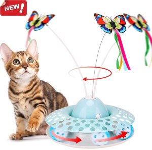 spinning butterfly cat toys, best cat toys, cat toys