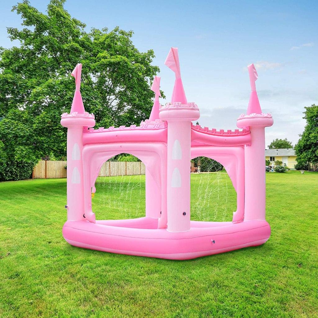 Teamson Kids Water Fun Castle Pool With Sprinkler