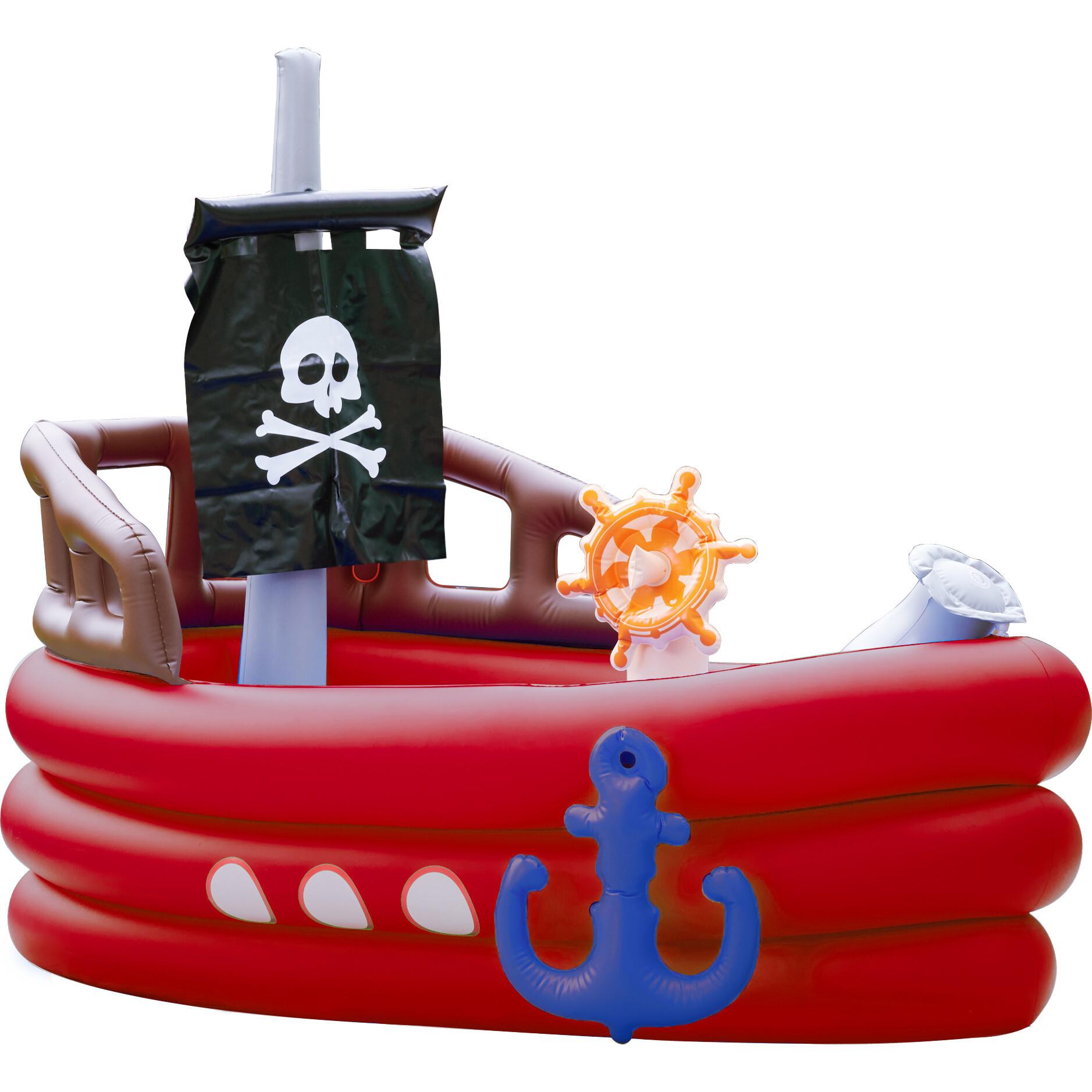 Teamson Kids Inflatable Pirate Boat Sprinkler