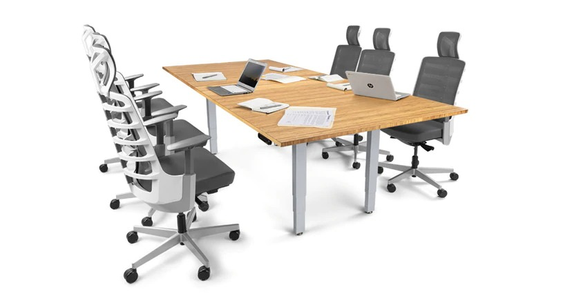 """UPLIFT Height Adjustable 42"""" Conference Table"""