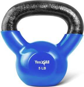 vinyl coated kettlebells, how to workout at home