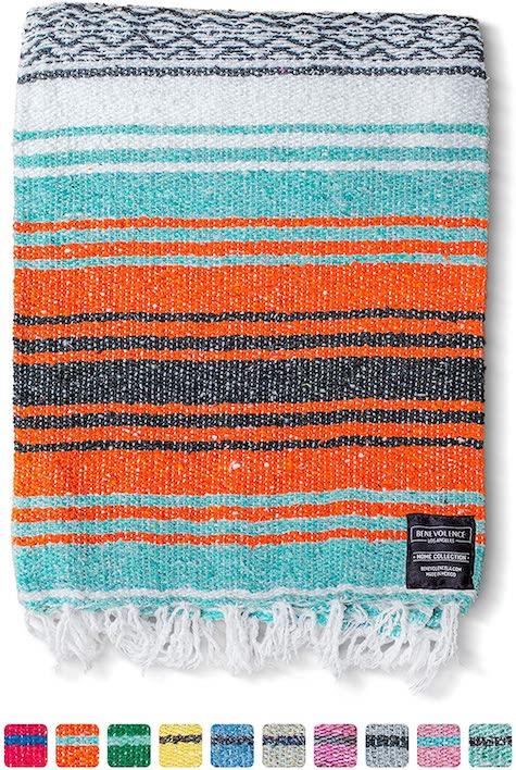 woven mexican beach blanket