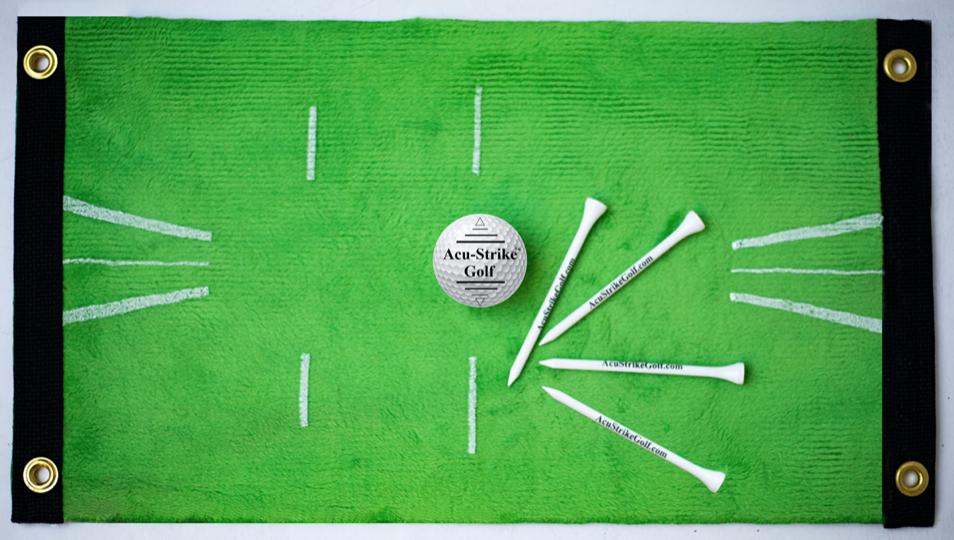 acu strike golf mat, indoor golf training aids for the off season