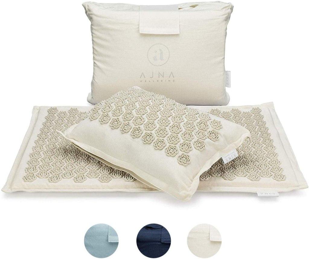 ajna acupressure mat and pillow