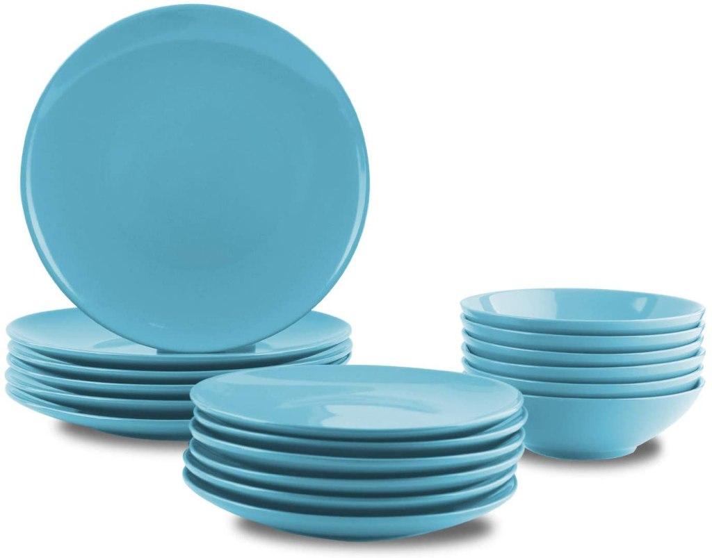 amazonbasics stoneware dinnerware set