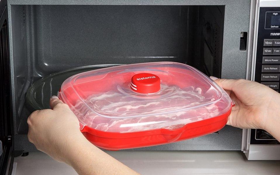 Microwaveable Bacon Tray