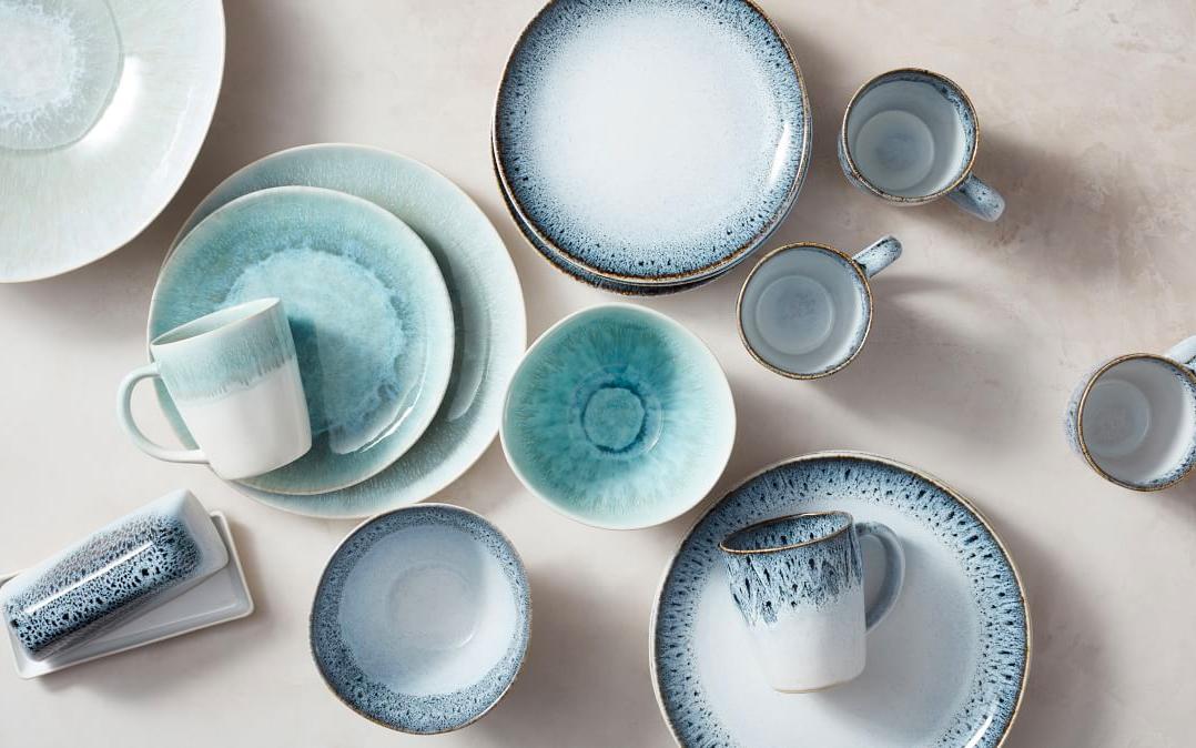Blue Pack of 2 10 Plastic Large Salad Serving Tableware Bowls