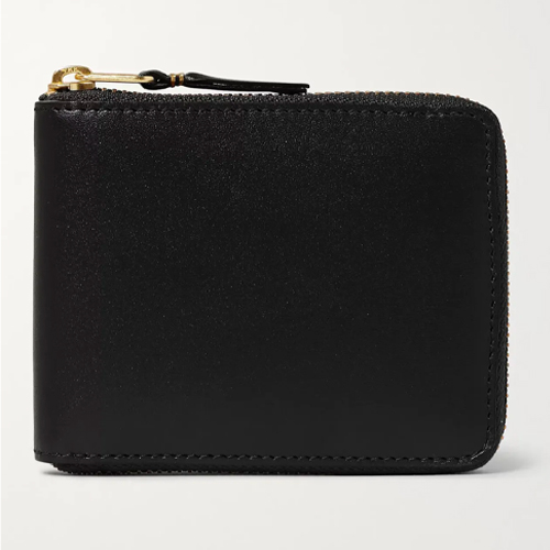 Comme Des Garcons Zip Around Leather Wallet for men