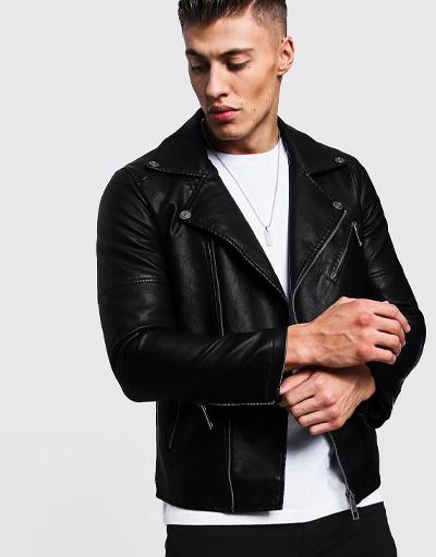 best vegan leather jackets - boohooman