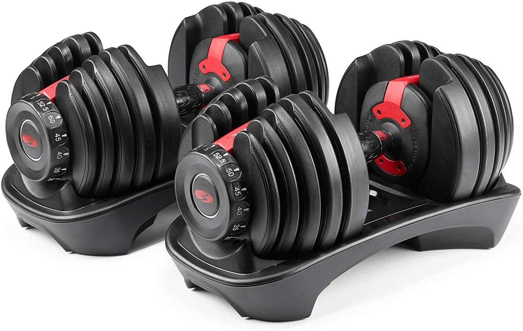 Bowflex slecttech 552 two adjustable dumbbells