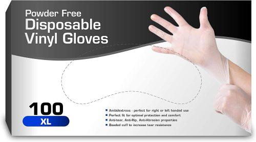 Chef's Star Vinyl Coronavirus Gloves