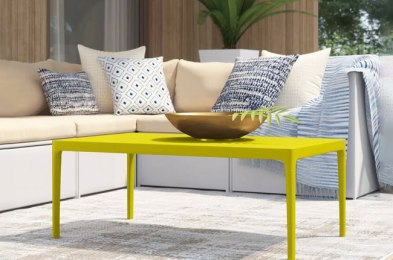 spruce up your patio with a fun and functional outdoor coffee table