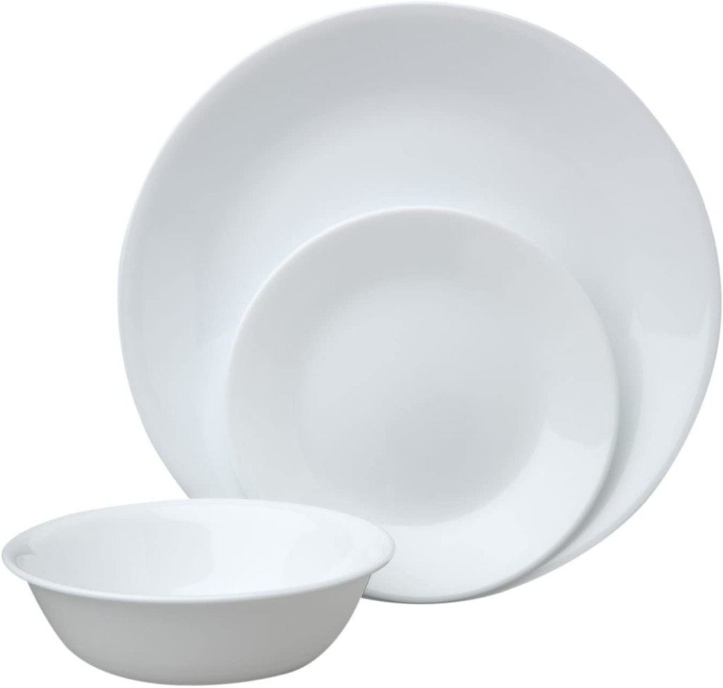 corelle white dinnerware sets