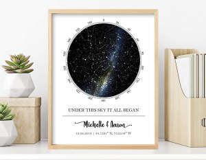 personalized gifts for dad custom star map