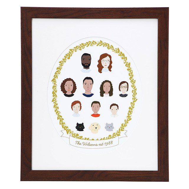personalized gifts for dad custom portrait